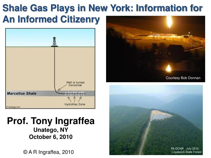 Shale Gas Plays in New York: Information for