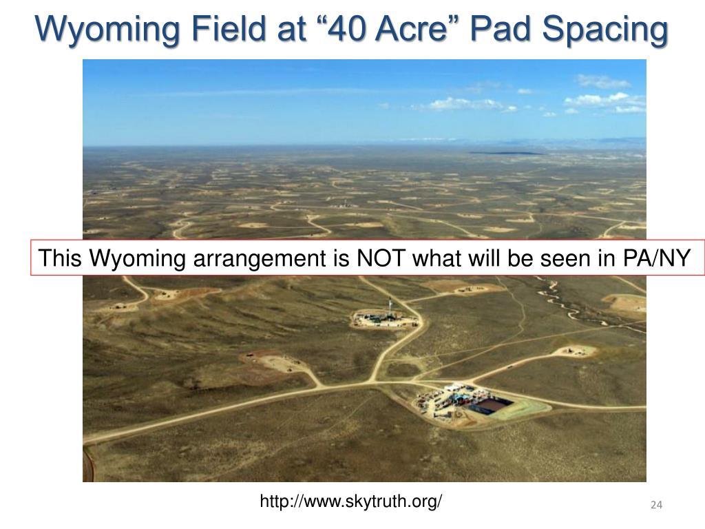 "Wyoming Field at ""40 Acre"" Pad Spacing"
