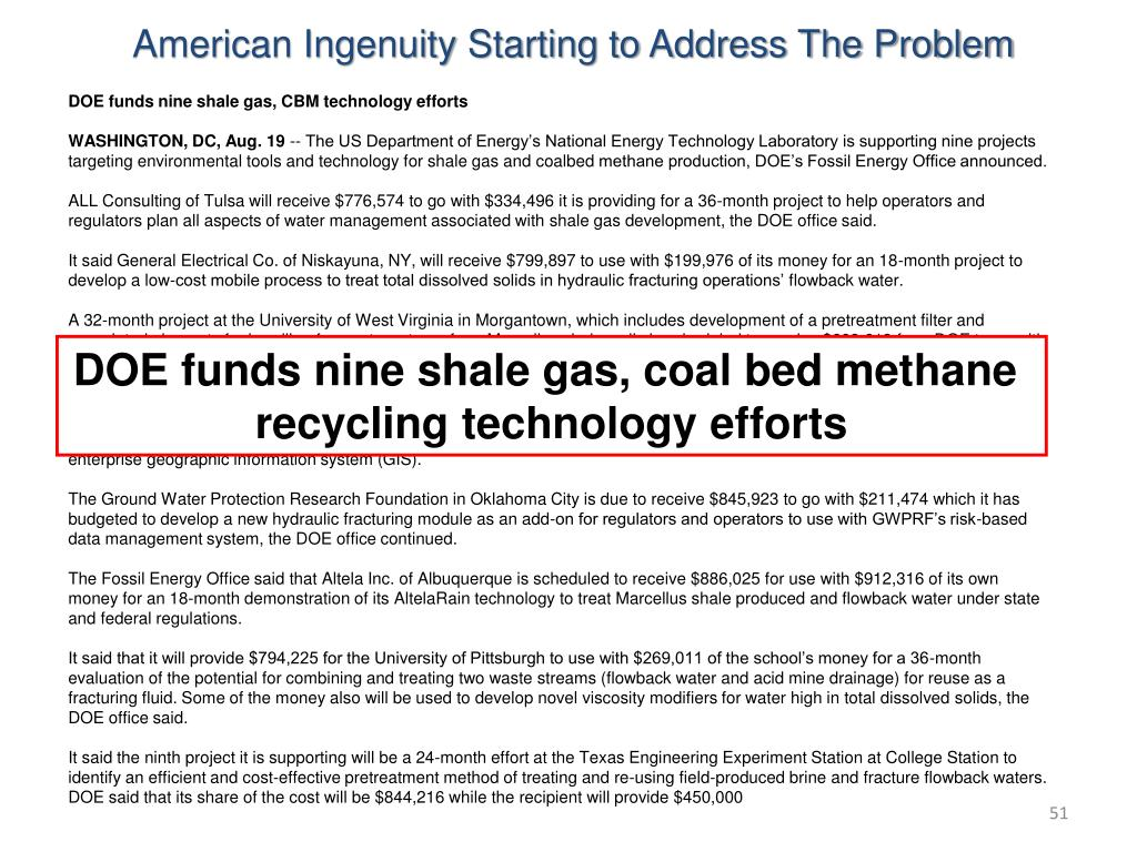American Ingenuity Starting to Address The Problem
