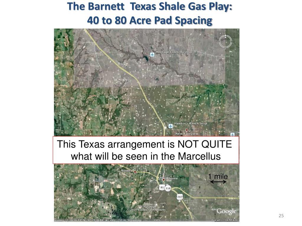 The Barnett  Texas Shale Gas Play: