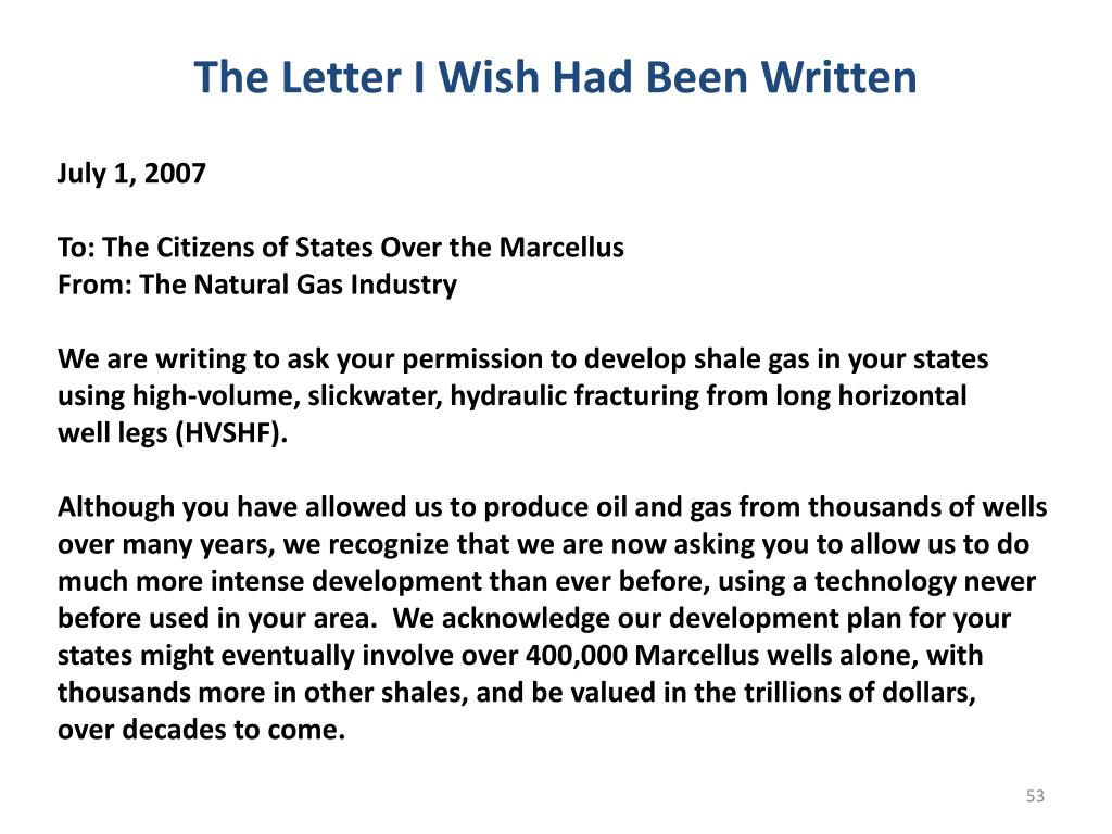The Letter I Wish Had Been Written