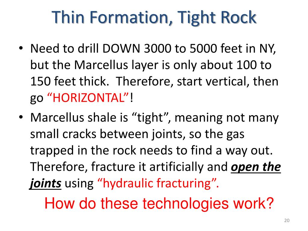 Thin Formation, Tight Rock