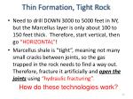 thin formation tight rock