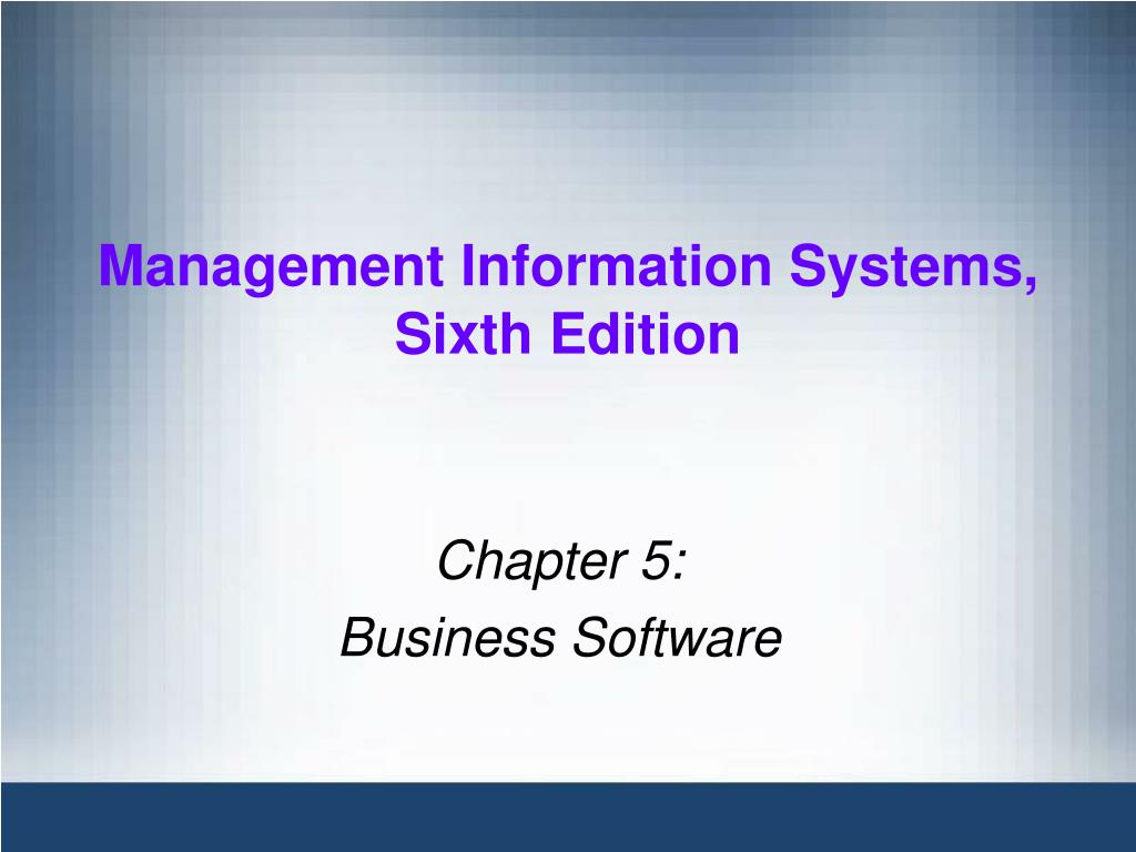 management information systems sixth edition l.