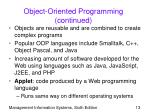 object oriented programming continued