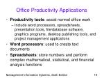 office productivity applications