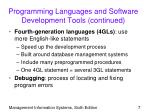 programming languages and software development tools continued7