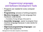 programming languages and software development tools