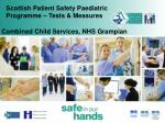 scottish patient safety paediatric programme tests measures