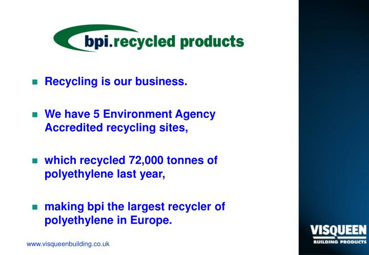 Recycling is our business.