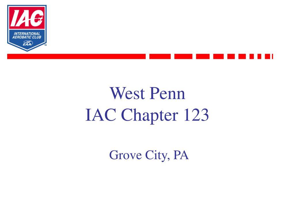 west penn iac chapter 123 grove city pa l.