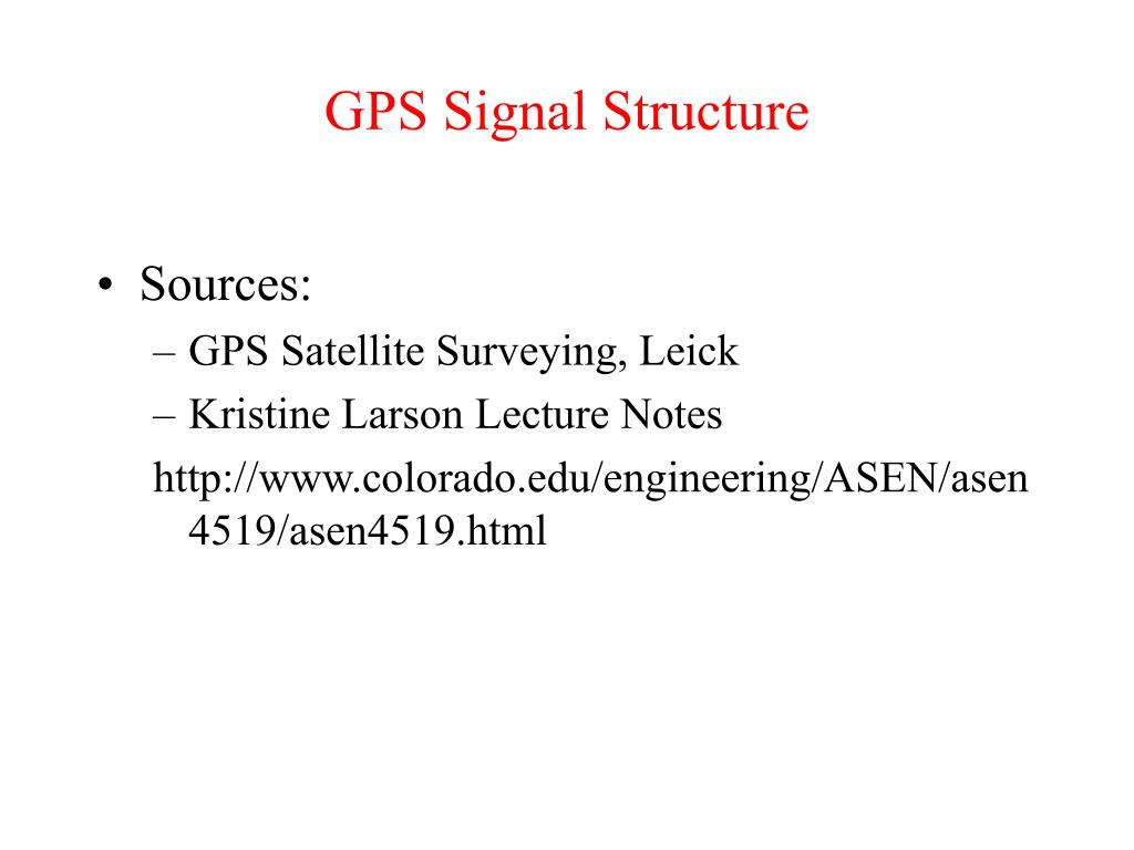 gps signal structure l.