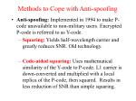 methods to cope with anti spoofing