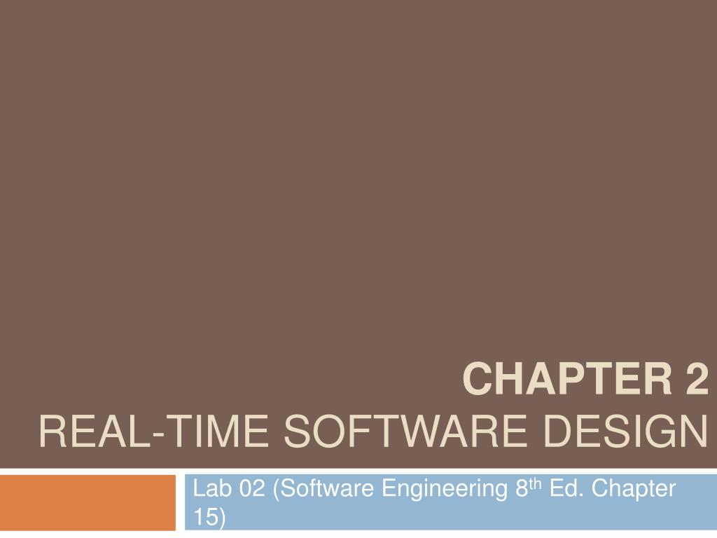 chapter 2 real time software design l.