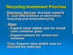 recycling investment priorities8