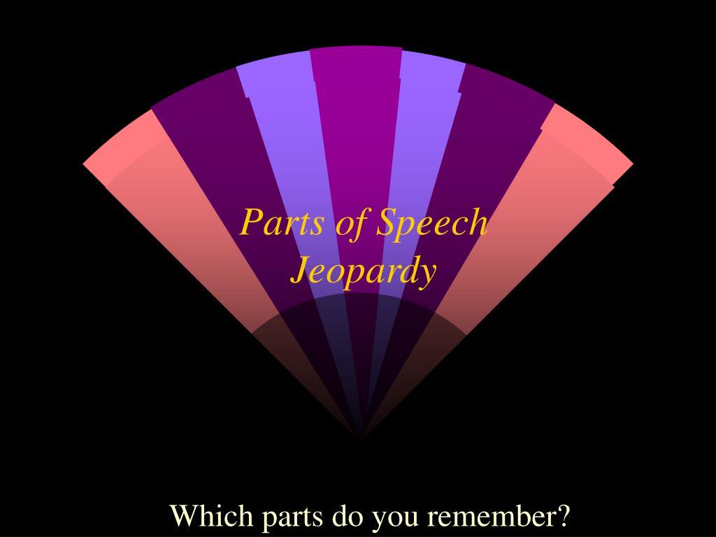 parts of speech jeopardy l.