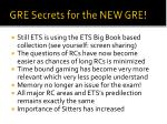gre secrets for the new gre