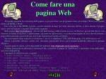 come fare una pagina web