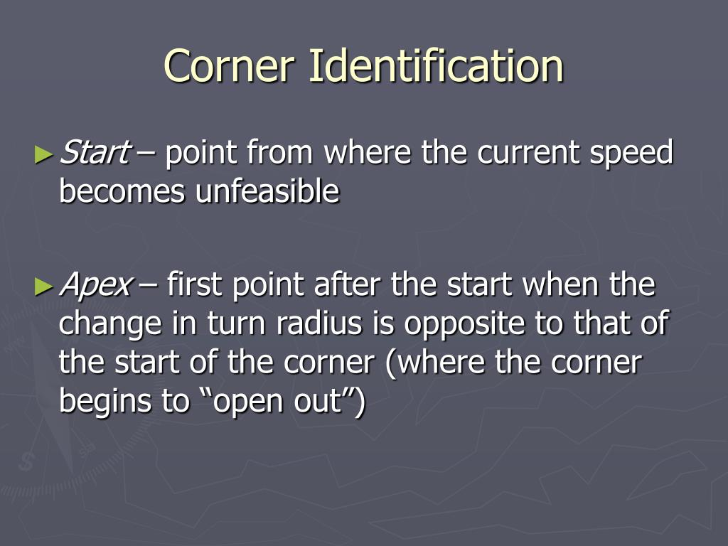 Corner Identification