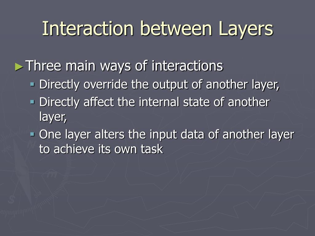 Interaction between Layers
