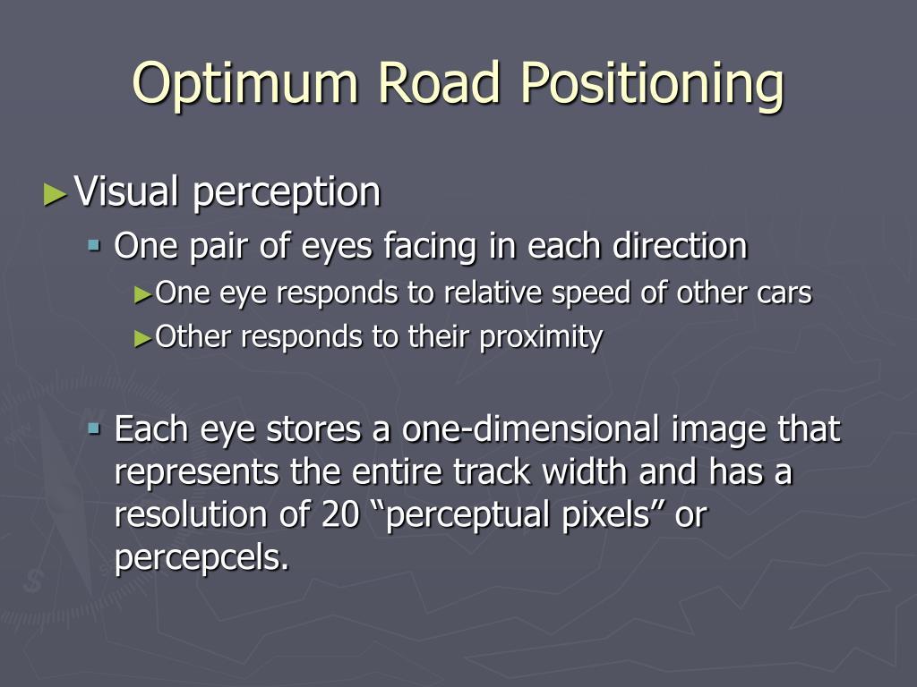 Optimum Road Positioning