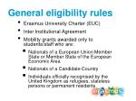 general eligibility rules