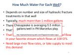 how much water for each well