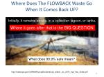 where does the flowback waste go when it comes back up