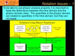 notation issues 1