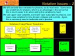 notation issues 2