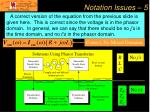 notation issues 5