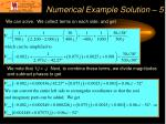 numerical example solution 5