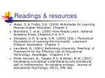 readings resources