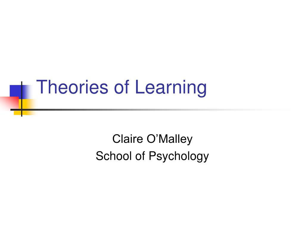 theories of learning l.