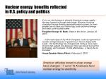 nuclear energy benefits reflected in u s policy and politics