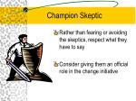 champion skeptic