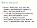 lesson plan details