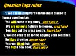 question tags rules