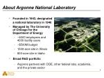 about argonne national laboratory