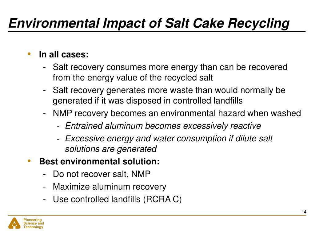 Environmental Impact of Salt Cake Recycling