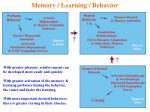 memory learning behavior