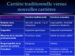 carri re traditionnelle versus nouvelles carri res7