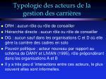typologie des acteurs de la gestion des carri res42