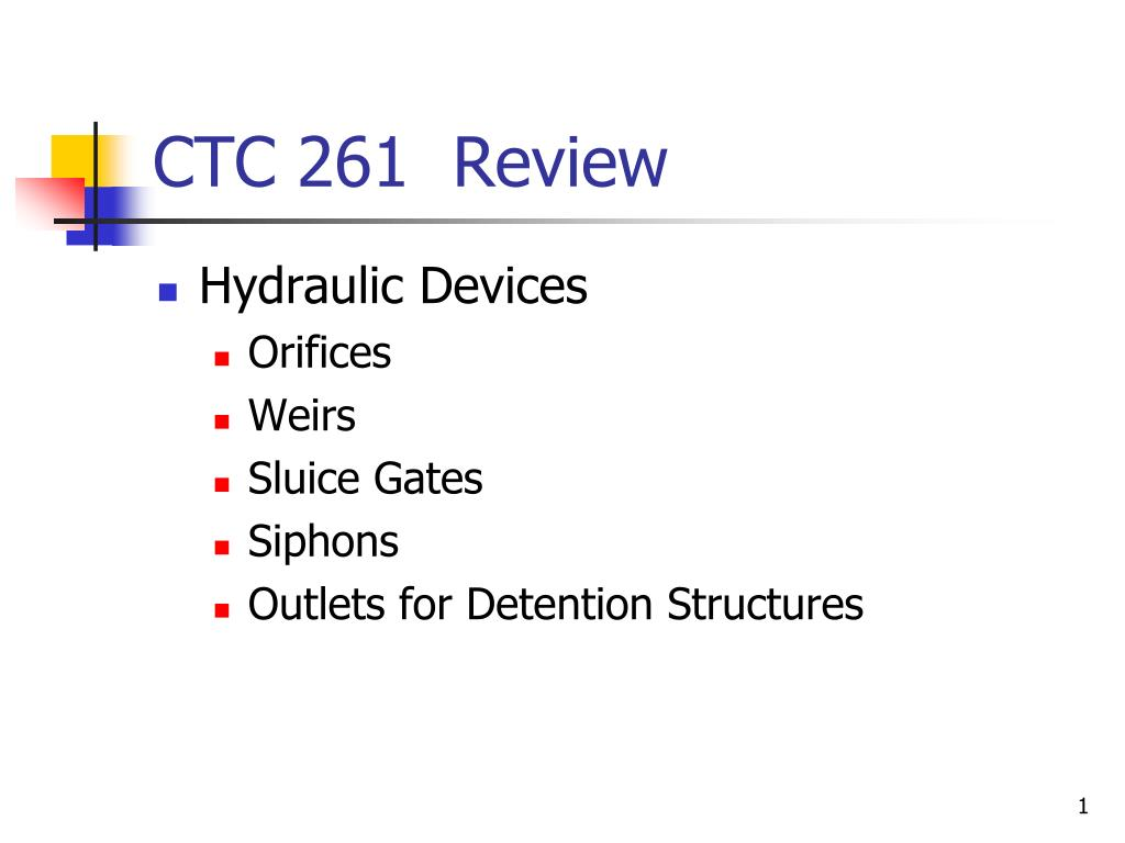 ctc 261 review l.