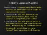 rotter s locus of control