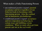 what makes a fully functioning person