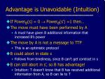 advantage is unavoidable intuition