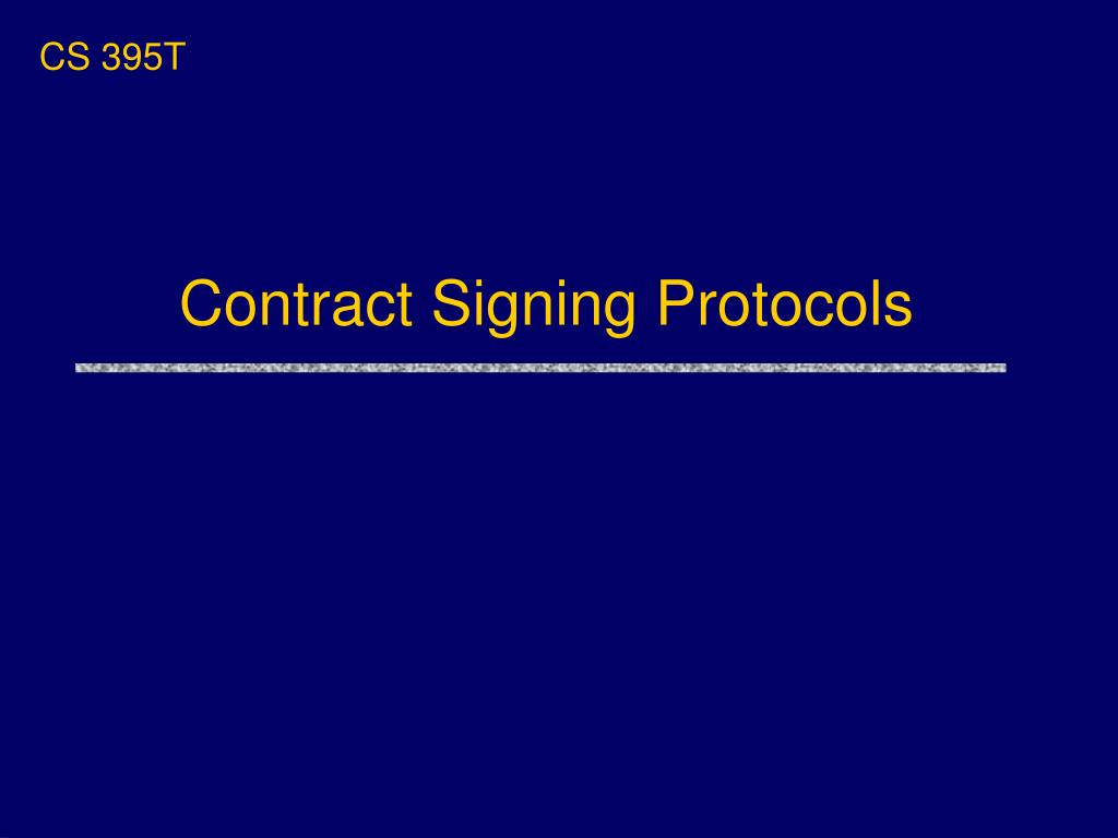 contract signing protocols l.