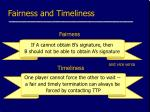 fairness and timeliness