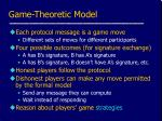 game theoretic model